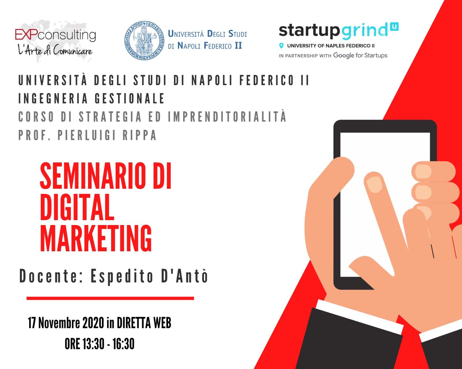 Seminario di Digital Marketing Federico II